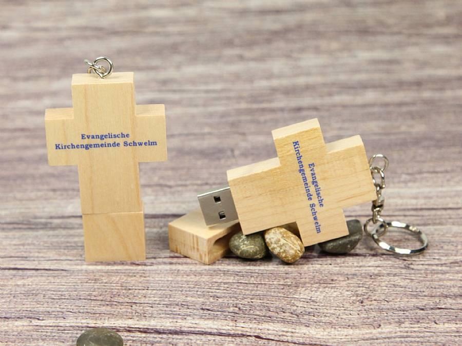 Holzkreuz USB-Stick