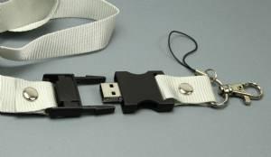 Neuer USB-Stick: USB Lanyard Schlüsselband Stick mit Firmenlogo als Aufdruck
