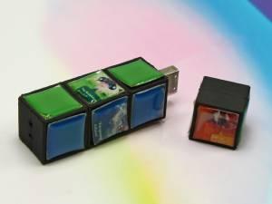Neue USB-Sticks: Doming USB-Sticks mit 3D Sticker und digitalem Logodruck
