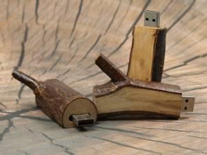 Holzast USB Speicherstick flach