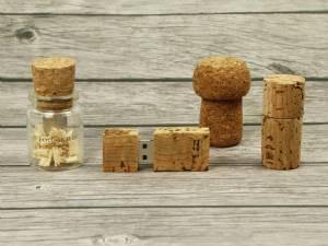 USB-Sticks aus Naturprodukten – Kork