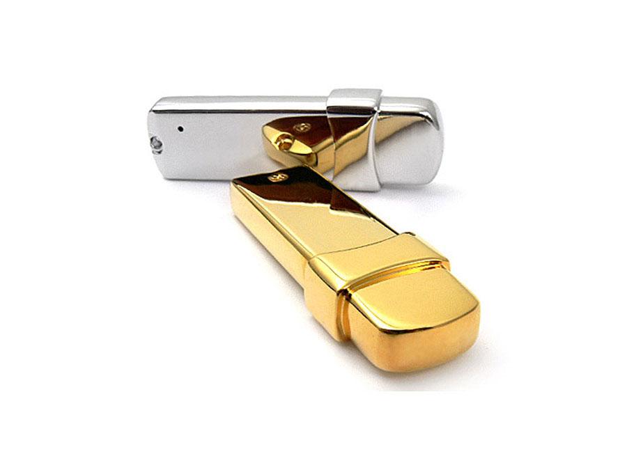 Schwerer Metall USB-Stick in Silber und Gold