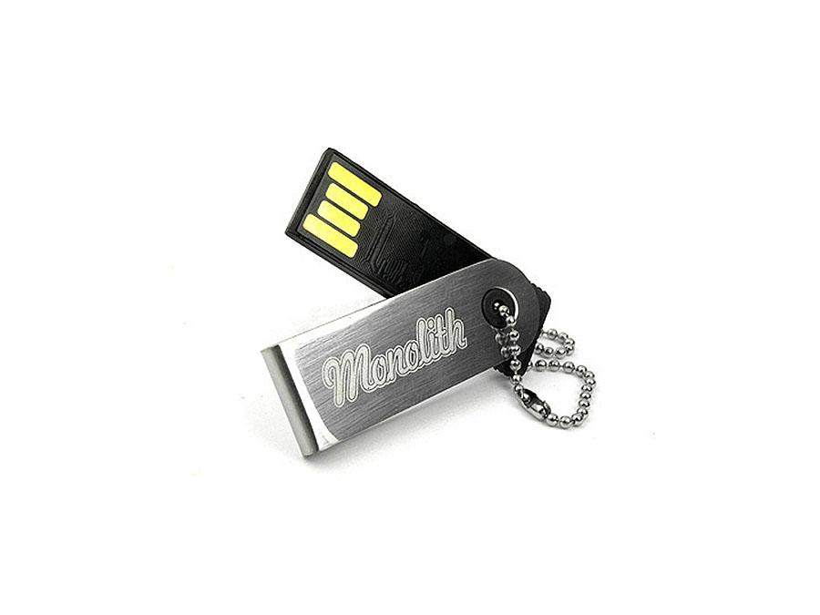 Monolith Mini Nano USB-Stick aus Metall und Logo