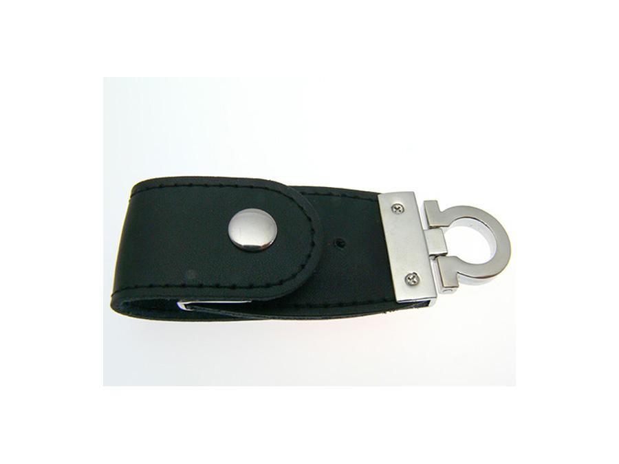 USB-Stick aus Leder mit Logo in Lederprägung als Werbemittel