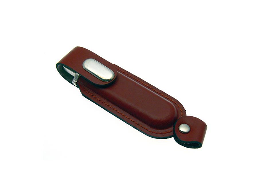 LEDER USB-Stick mit Branding Lederprägung