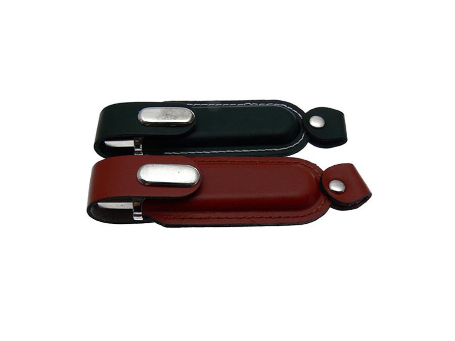 USB-Stick aus Leder mit Logo in Lederprägung edles Giveaway