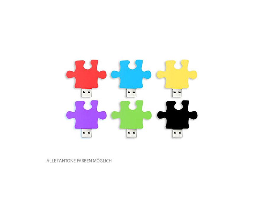 Individualisierbarer USB-Stick Panonefarben Puzzleteil Puzzle