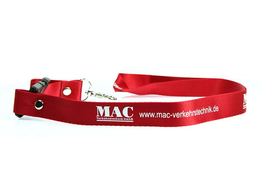 MAC Verkehrstechnik Lanyard mit Logo