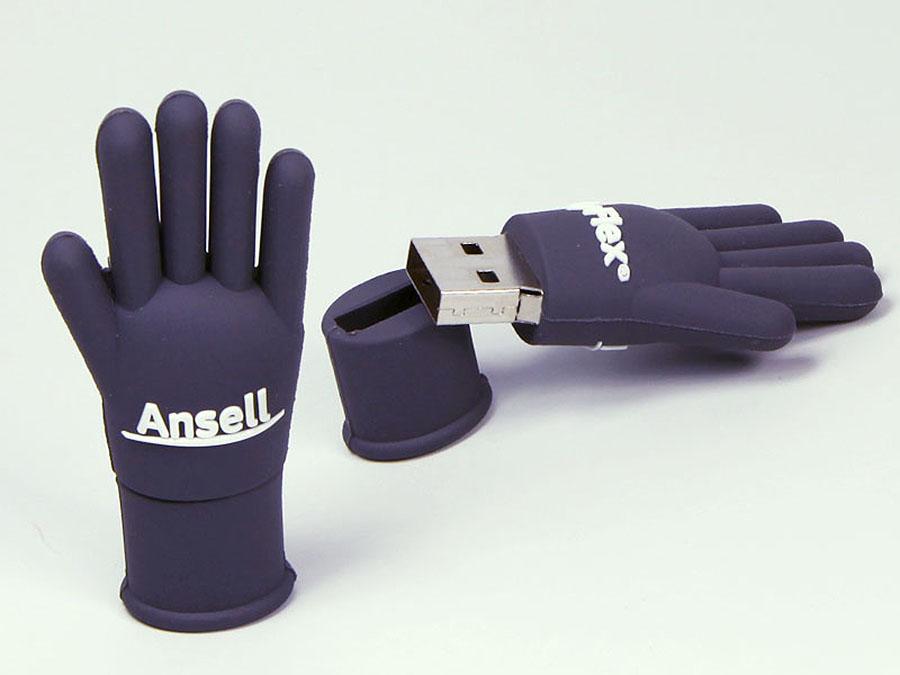 Ansell Handschuh mit Fingern und Logo als individueller USB-Stick