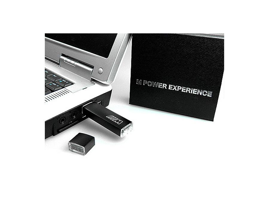 BMW Power Experience USB-Stick mit Geschenkverpackung und Logo als heißfolienprägung