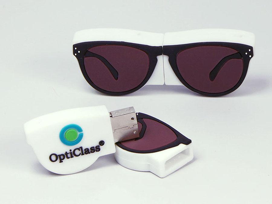 Brille Sonnenbrille mit glas Linsen und Logo als individueller USB-Stick