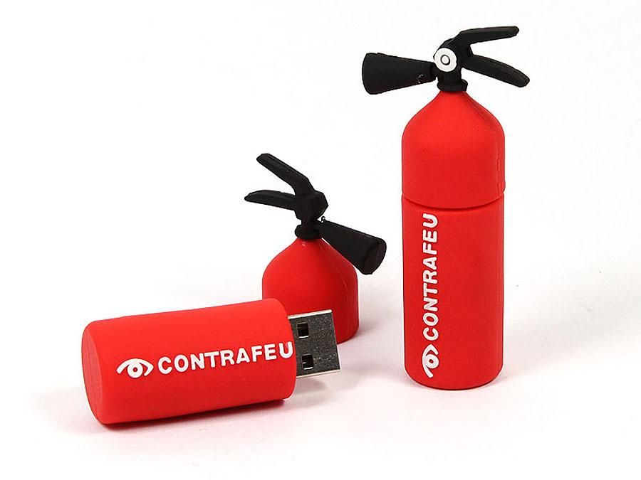 Contrafeu USB-Stick als Feuerlöscher mit Logo