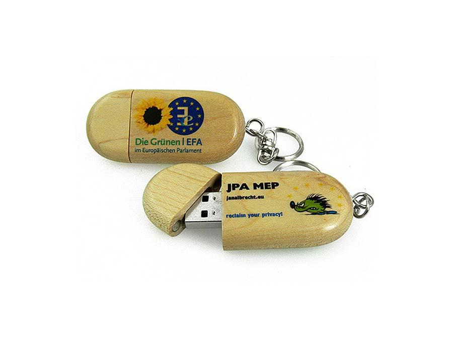 Die Grünen USB-Stick Handschmeichler aus Holz
