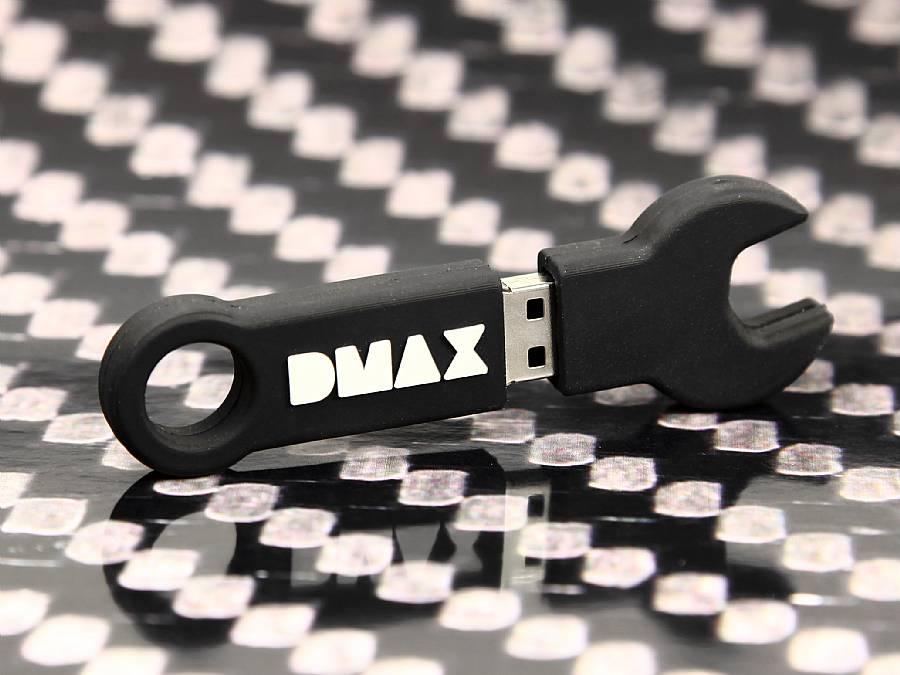 dmax logo usb stick schraubenschluessel schwarz