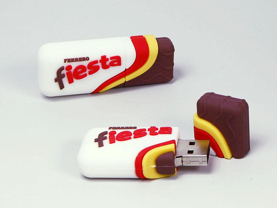 Ferrero Fiesta Süssigkeiten Schokolade Snaack mit Logo in Sonderform