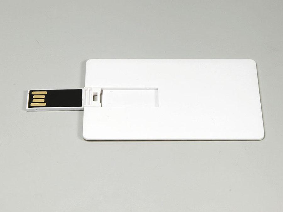 Flache Karte mit USB-Stick zum ausklappen und bedrucken