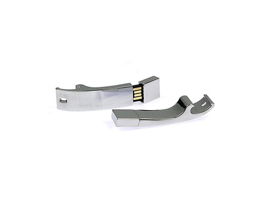 Flaschenöffner USB-Stick aus Metall mit Logo