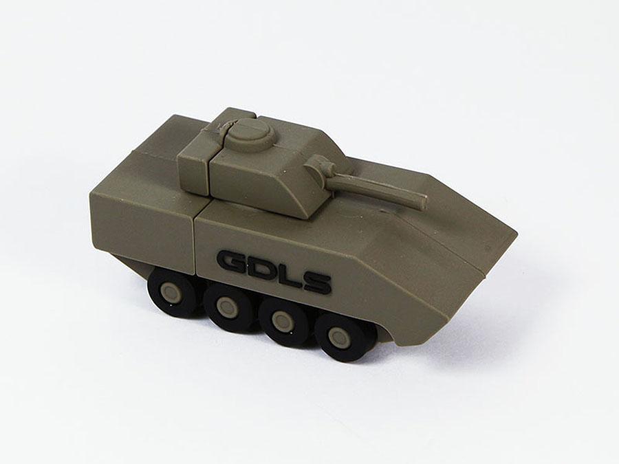 GDLS USB Panzer mit Logo bedrucken oder erhaben als Form