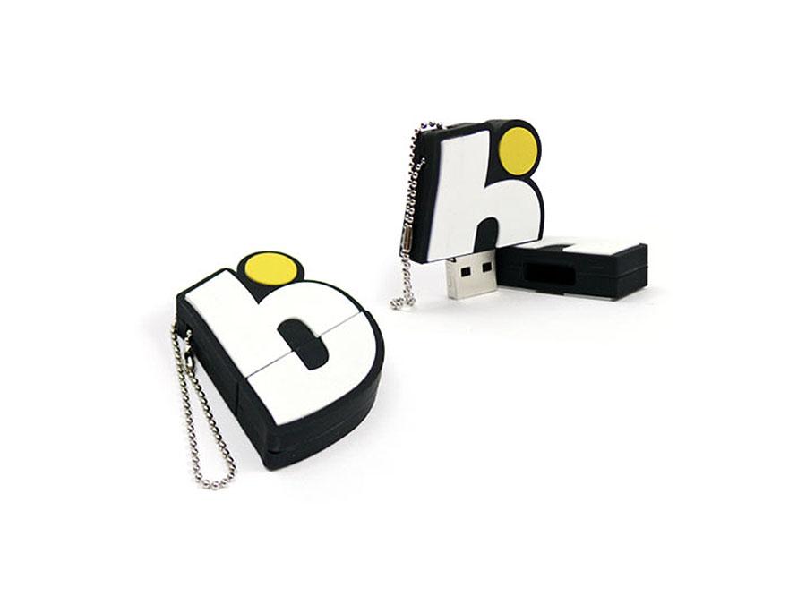 Individueller USB-Stick in der Form des bwin Logos