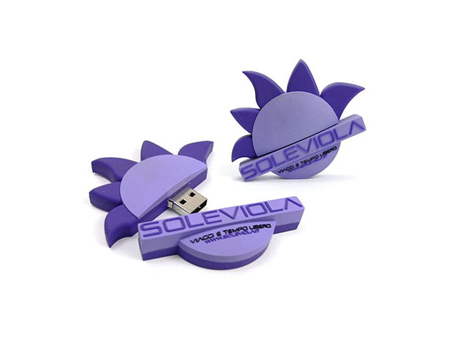 Individueller USB-Stick in der Form des kundenlogos