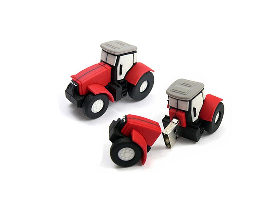 Individueller USB-Stick in der form eines Traktors