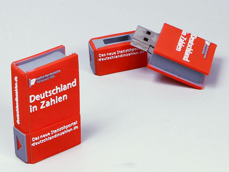 Individuelles Buch mit Deckel und Logo als USB-Stick