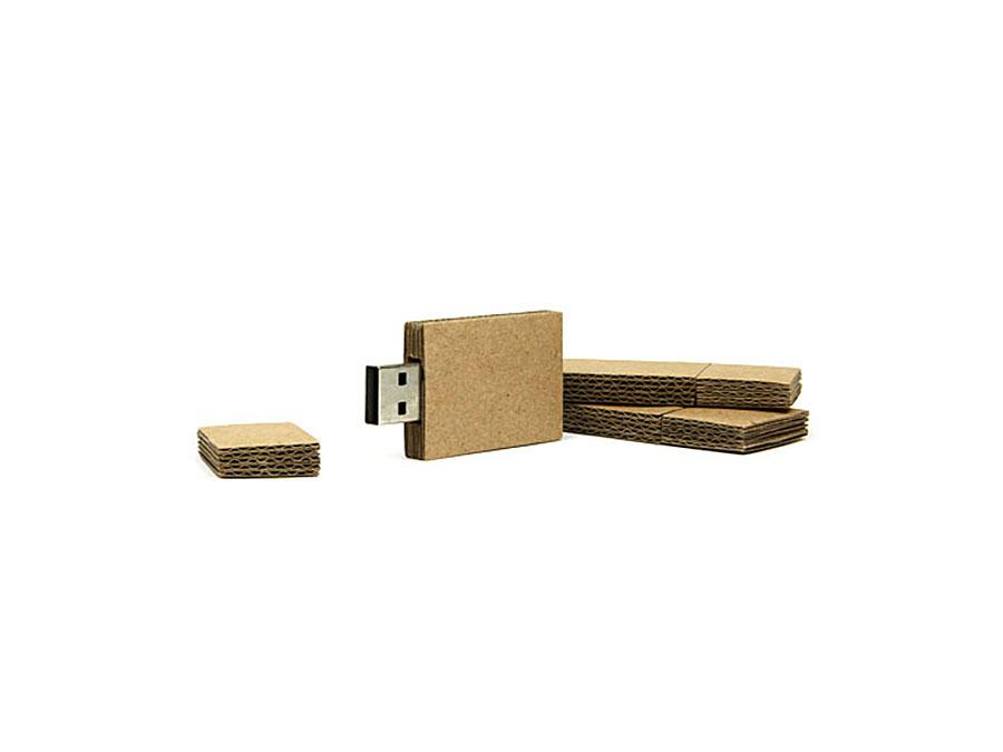 Karton mit Welle USB-Sick als Werbemittel mit Logo zum bedrucken