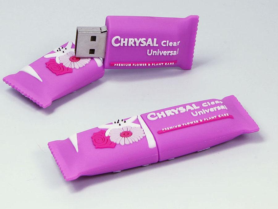 Kissen Verpackung für Süssigkeiten und Snacks als USB-Stick