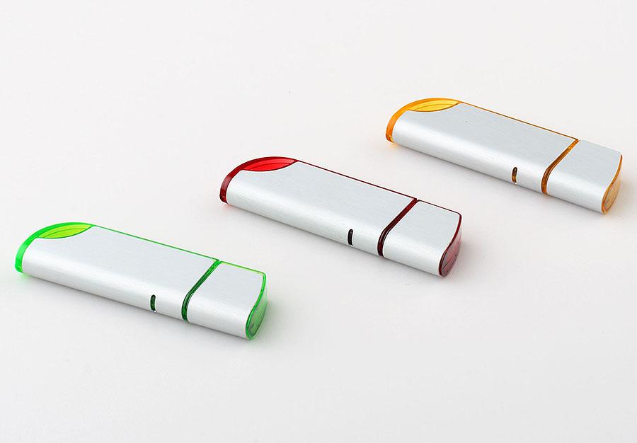 Klassischer USB-Stick aus Aluminium in vielen Farben mit Logo gravur