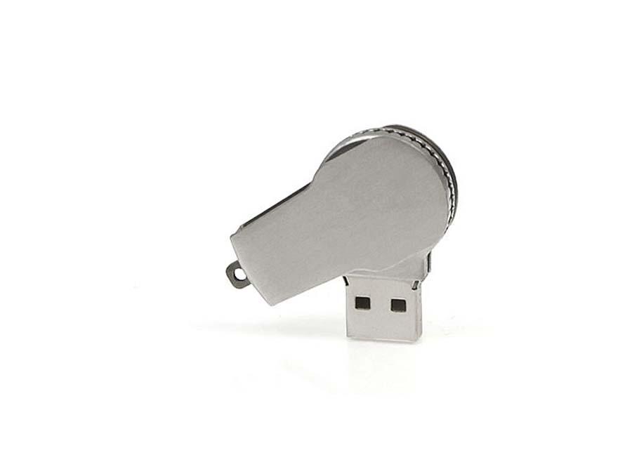 Kleiner drehbarer USB-Stick mit Bügel aus Metall