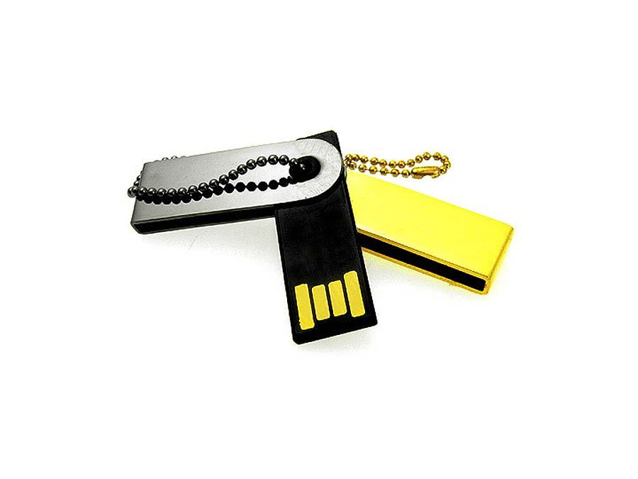 Kleiner Mini USB-Stick aus Metall und Gold