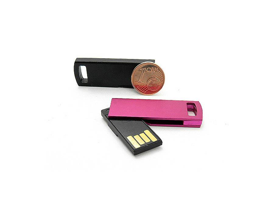 Kleiner USB-Stick mit Klappgelenk aus Metall