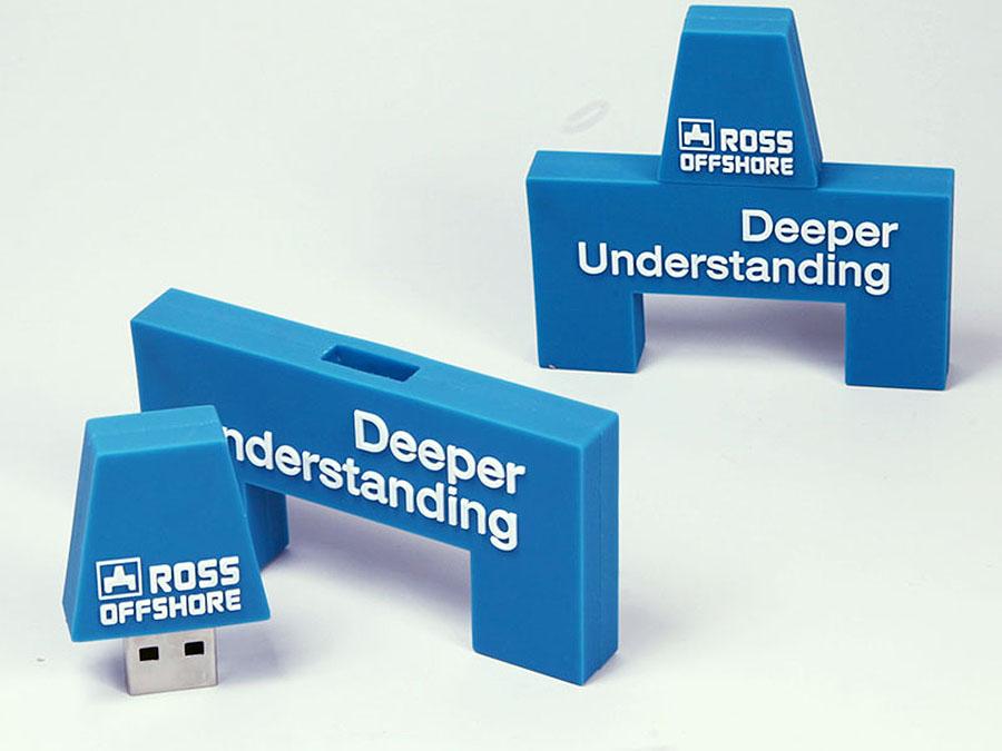 Kundenlogo Logo des Kunden als USB-Stick in Wunschform