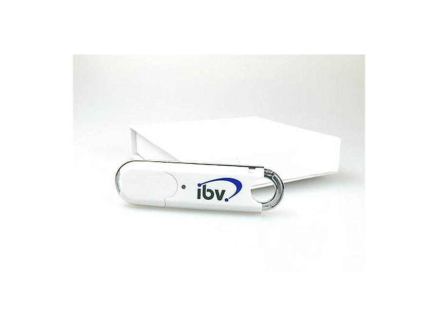 Kunststoff USB-Stick mit Logodruck und Geschenkbox
