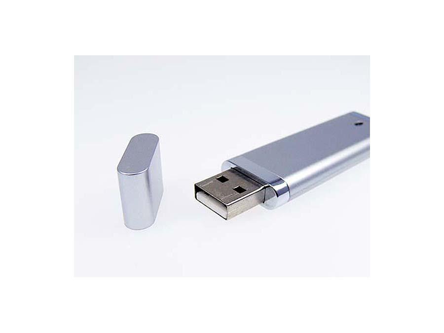 Kunststoff Werbeartikel USB Stick offen mit Deckel