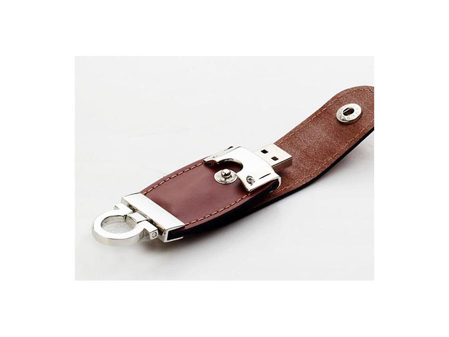 Leder USB-Stick mit Logo in Lederprägung als Werbegeschenk