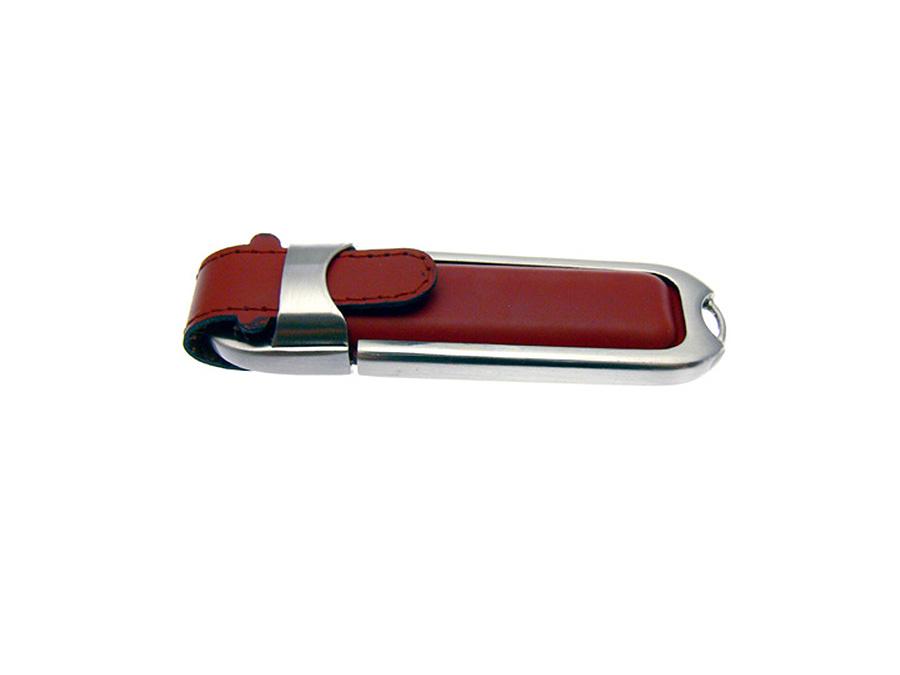 Leder USB-Stick mit Prägung des Logos