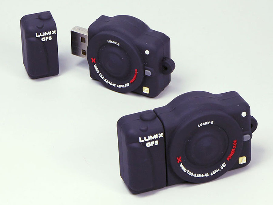 Lumix Kamera Digitalkamera Fotoapparat mit USB-Stick in Sonderform