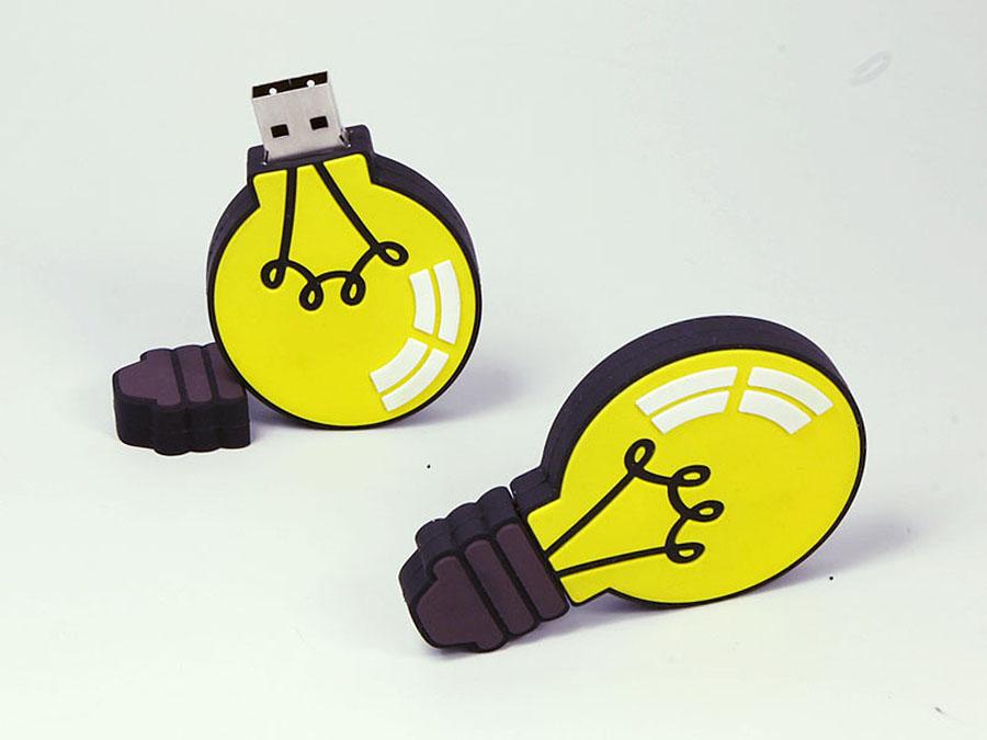 Lustige Comic Glühbirne USB-Stick in Wunschform mit Logo