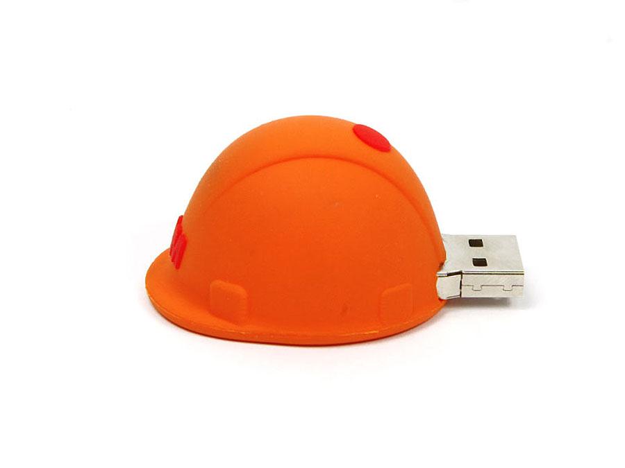Lustiger individueller USB-Stick in der Form eines Bauhelms