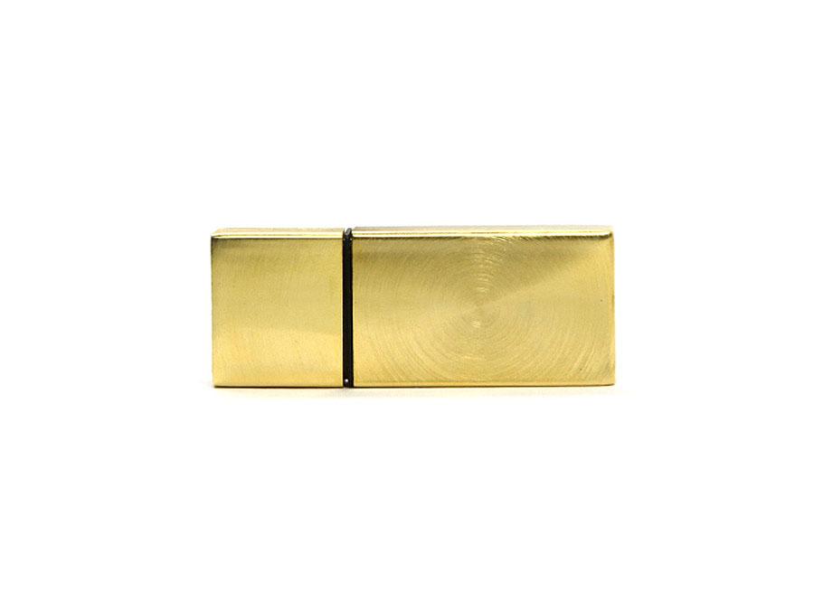 Goldener USB-Stick für den Wiederverkauf mit Datenbespielung und Logoaufbringung