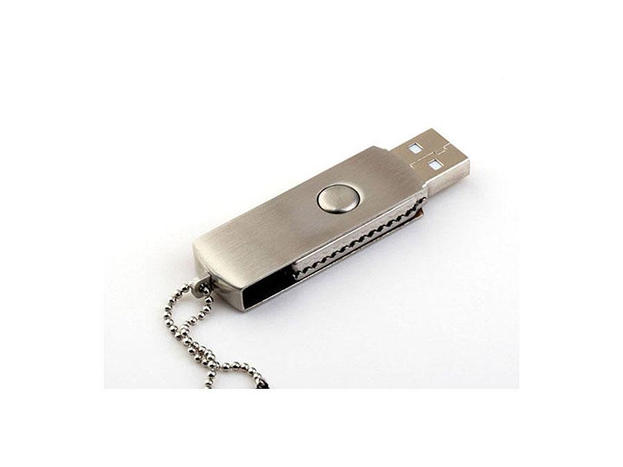 Vollmetall USB-Stick mit Drehgelenk für Marketingaktion