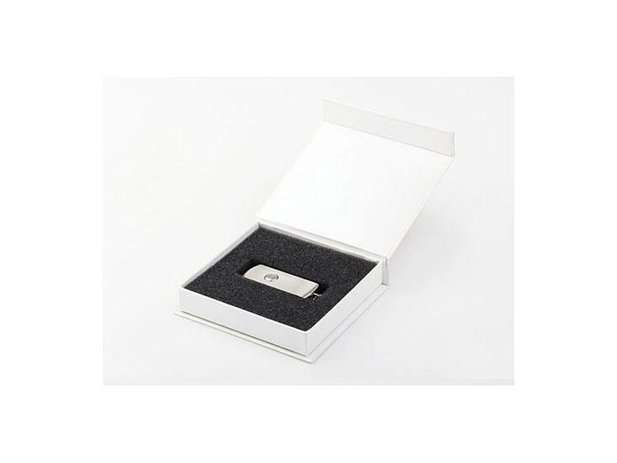 Vollmetall USB-Stick mit Drehgelenk in Geschenkverpackung