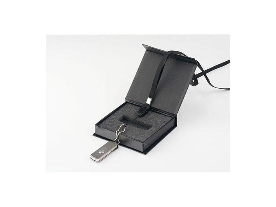 Vollmetall USB-Stick mit Drehgelenk in Geschenkbox mit Bedruckung