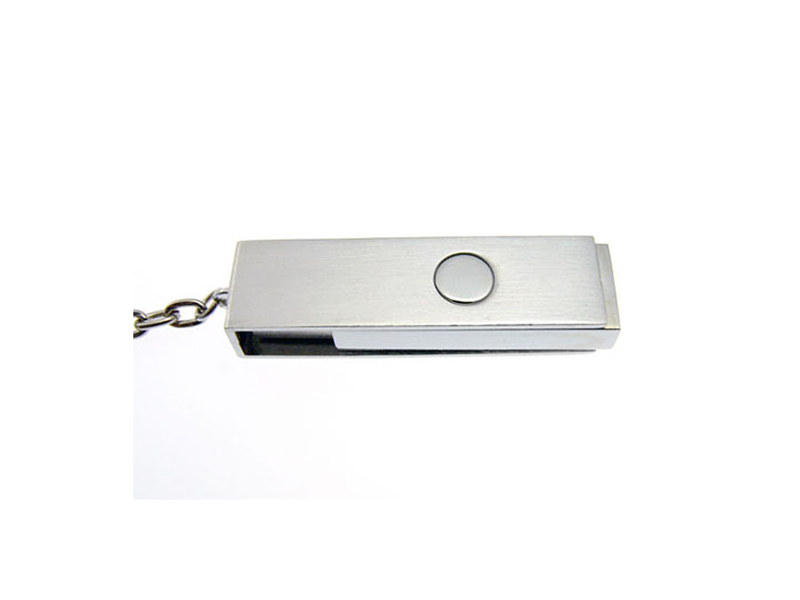 Dreh-USB-Stick aus Metall mit Logodruck