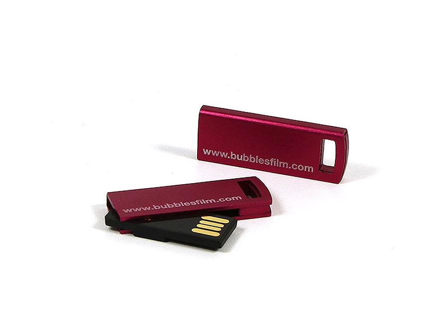 bubbles Film USB-Stick mit graviertem Logo