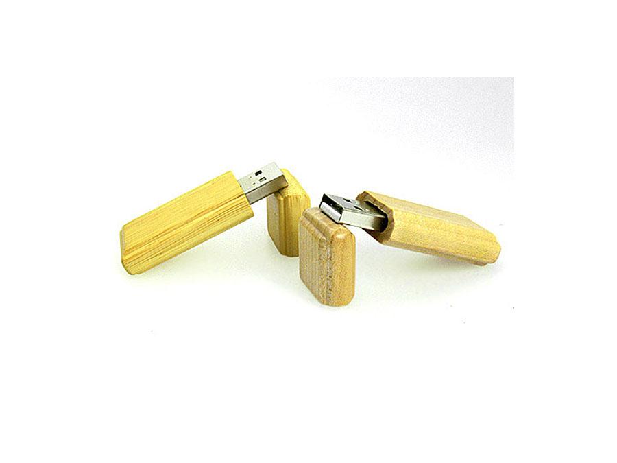 Natürlicher Holz USB-Stick aus umweltfreundlichen Materialien