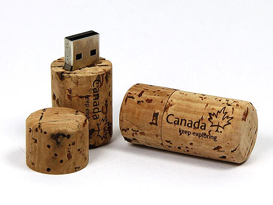 Natur USB-Stick mit Logo Flaschenkorken