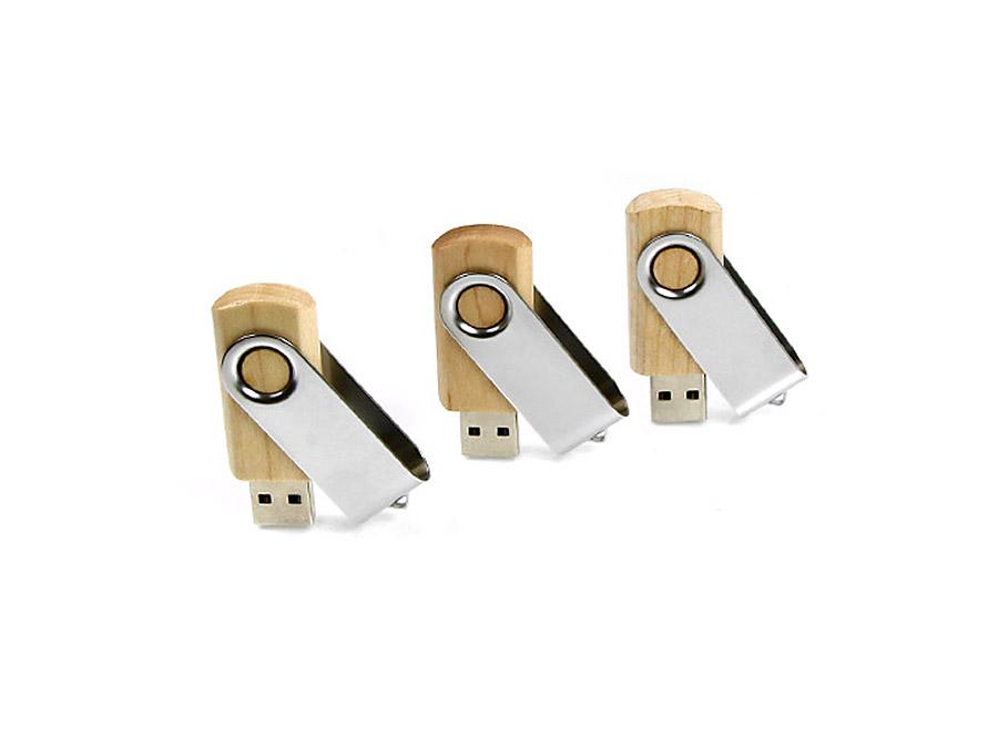 Ökologische Holz USB-Sticks aus Holz mit Bügel zum drehen