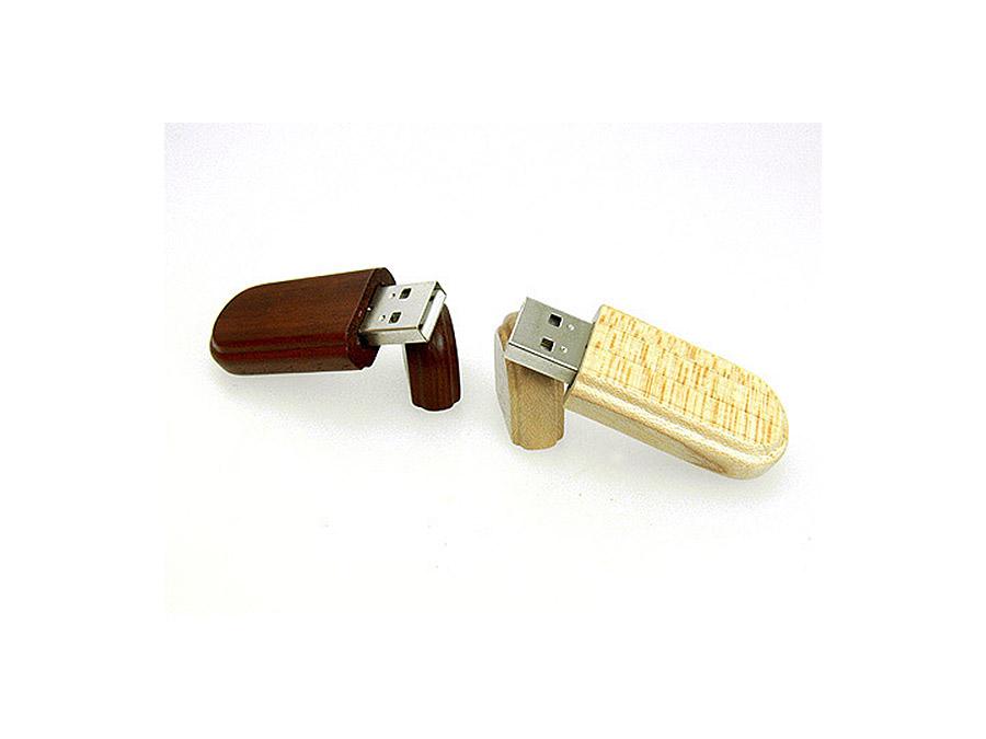Ökologischer Holz USB Stick mit Logo als Werbeartikel